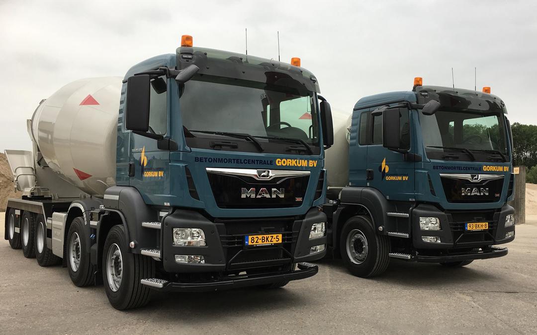 Nieuwe truckmixers in gebruik genomen